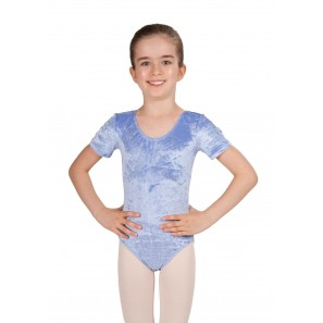 3592 Kinder Kurzarm Ballett Body aus Velours von Intermezzo