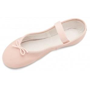 Ballettschuhe Kinder aus Leder mit ganzer Sohle von Bloch