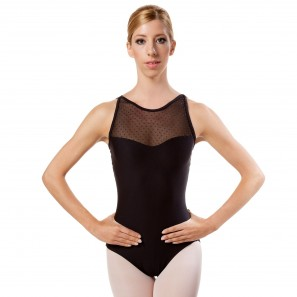 Merveille WearMoi Tanztrikot Camisole mit Netzeinsatz