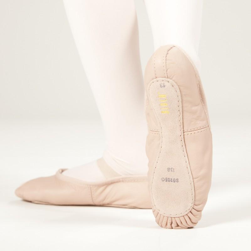 SO205G Ballettschuhe Kinder aus Leder mit ganzer Sohle von Bloch
