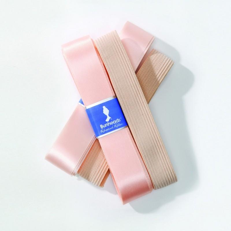 Elast und Satinbändel Duopack Lachsfarben