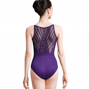 MJ7197 Mirella Tanzbody mit gekreuztem Mesh-Rückenausschnitt
