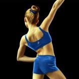 Bloch Leo Gymnastics Velvet Crop Top für Mädchen