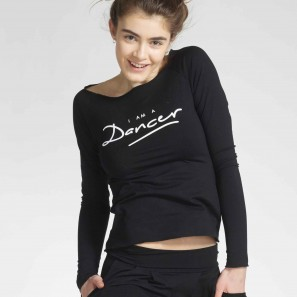 AMAN DANCER Langärmliges T-Shirt mit Logo von Temps Danse