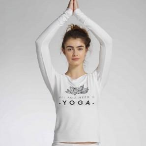 AMAN LOTUS Langärmliges Yoga Top mit Logo von Temps Danse