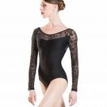 SIBELLE Damen Langarm Tanztrikot mit Blumen-Mesheinsatz von Wear Moi