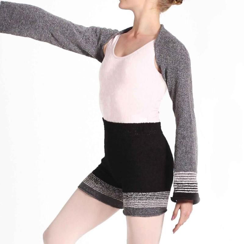 5226 Strick-Shorts mit Streifenmuster von Intermezzo