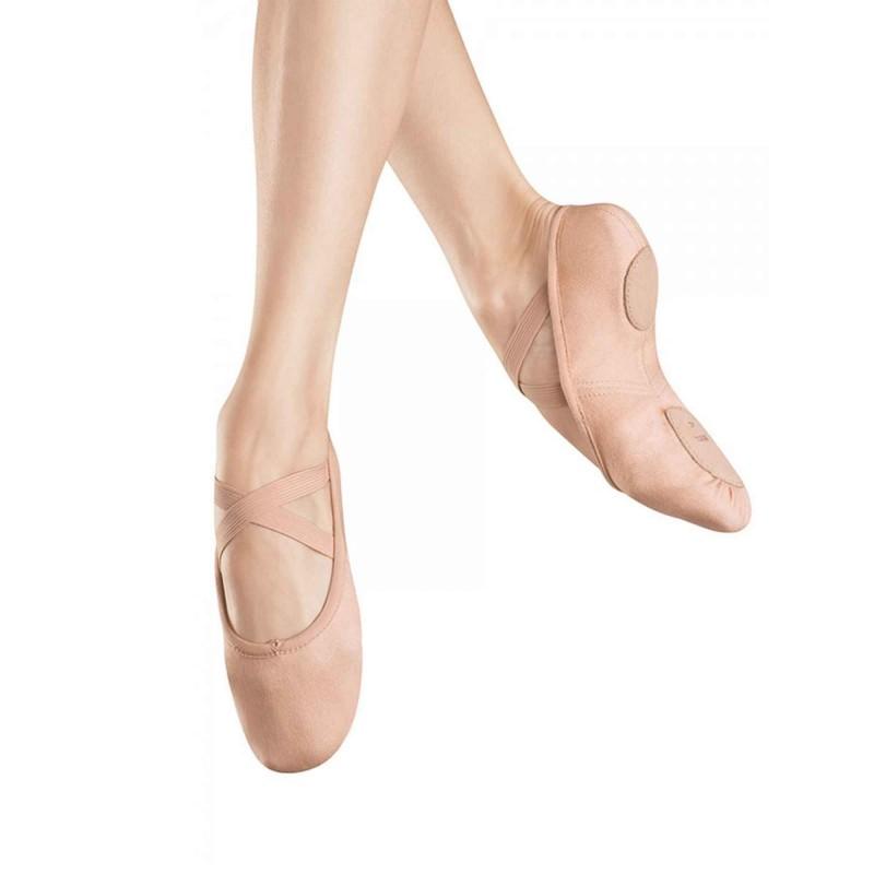 S0282L Ballettschuh aus Stretchleinen mit geteilter Sohle von Bloch