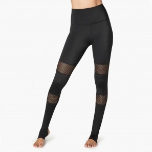 CL3269 BEYONDYOGA BLOCKED OUT HIGH WAISTED STIRRUP LEGGING