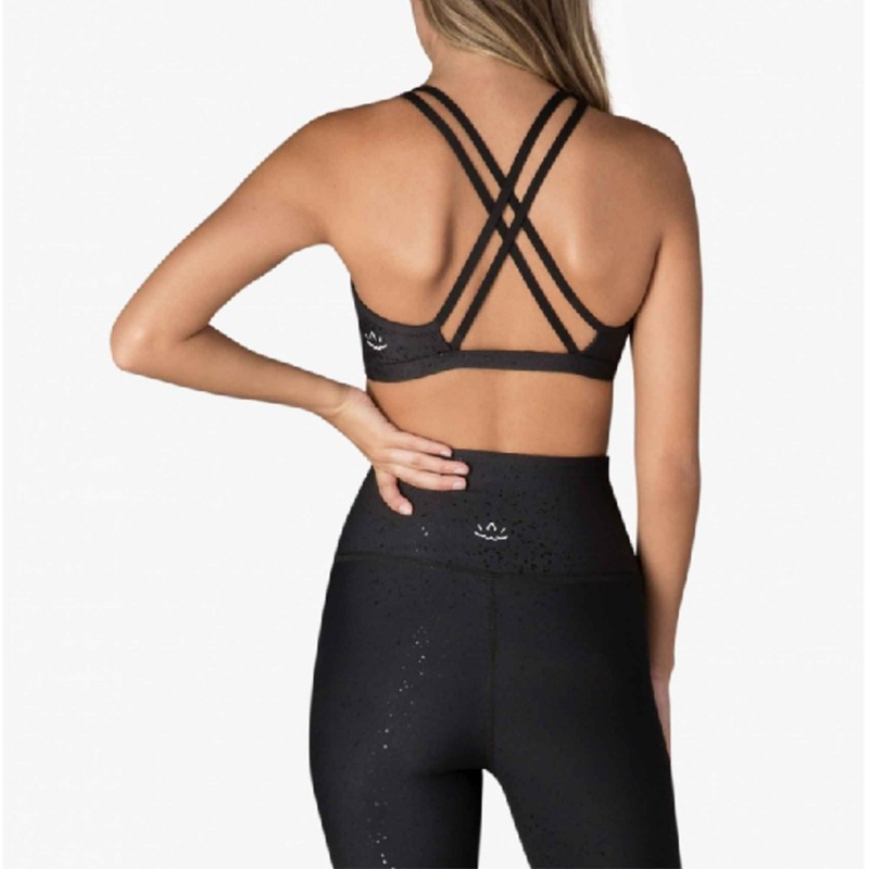SF8122 BEYONDYOGA DOUBLE BACK ALLOY SPECKLED BRA