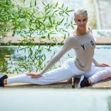 Langärmliges Yoga Top mit Logo von Temps Danse