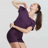 Kurzes Top aus melierter Viskose ELAN von Temps Danse Paris