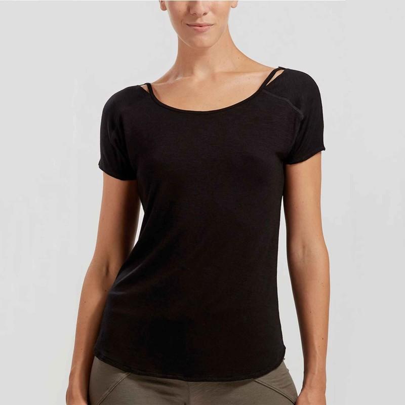 Shirt mit Schulteröffnungen in Flammgarn-Optik FUJI von Temps Danse Paris