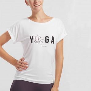 T-Shirt mit Yoga Logo von Temps Danse