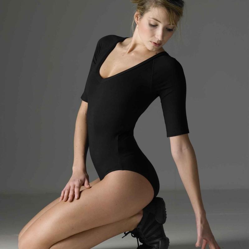 3/4 Arm Body Temps Danse mit V-Ausschnitt Erwachsene