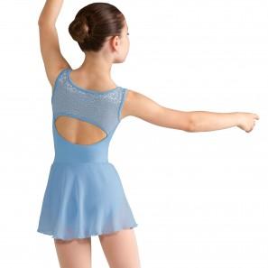 Ballettdress Kinder mit Mesheinsatz M359C von Mirella