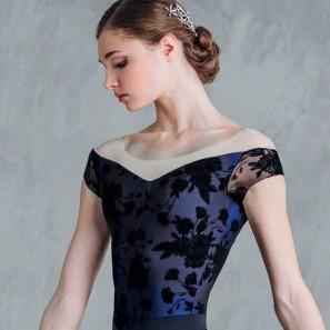 Ballett Tanztrikot Kurzarm Grishko Bolshoi DA-18051M-FLOWERS