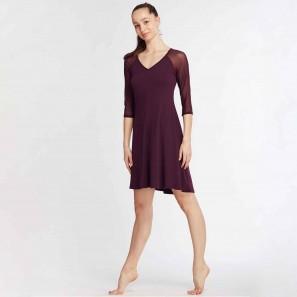 Kleid mit ¾ Tüllärmeln und V-Ausschnitt Delya von Temps Danse