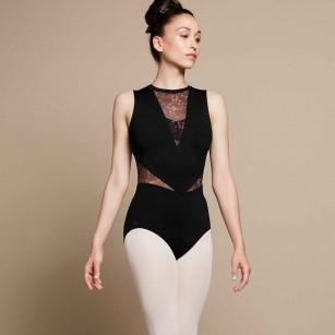 Body mit langen Tüllärmeln DECIBEL Temps Danse Paris