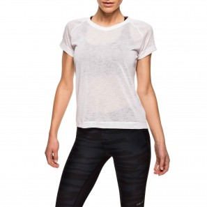 Textured loose tee – White - CASALL - 17159