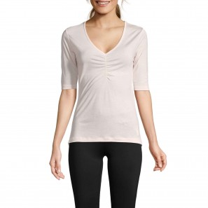 Gathered front tee – Icing pink – Casall – 18182