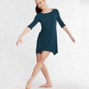 Asymmetrisches Tunika-Kleid mit ¾ Ärmeln Barbara von Temps Danse Paris