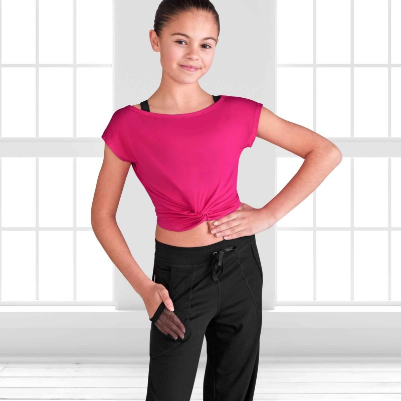 Kurzes Kinder Tanz Crop Tee Top FT5078C Bloch