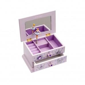 Schmuckkästchen mit integrierter Spieluhr Ballerina-Design JB-10 Katz