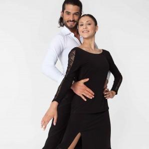 Tanz Top Langarm mit Spitze 6495 Intermezzo