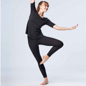Leggings mit breitem Rollbund von Temps Danse