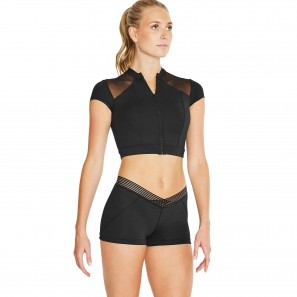 Tanz Sport Zip Crop Top FT5104 Bloch
