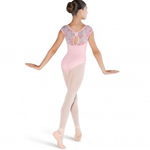 Ballett Body Kinder Kurzarm mit floralem Mesh CL4832 Bloch