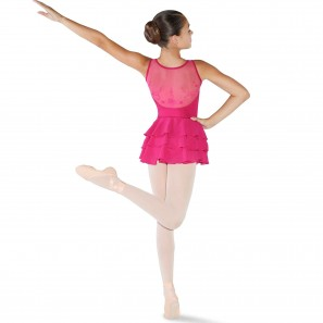 Ballettkleid Mädchen mit 3-Schichtigem Tüllrock CL3525 Bloch