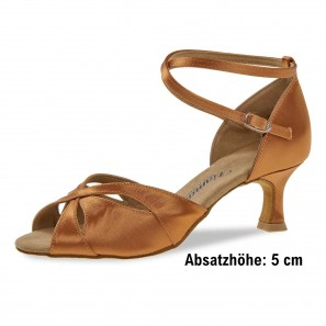 Tanzschuh  Damen Latin Tan Satin 141-077-379 Diamant