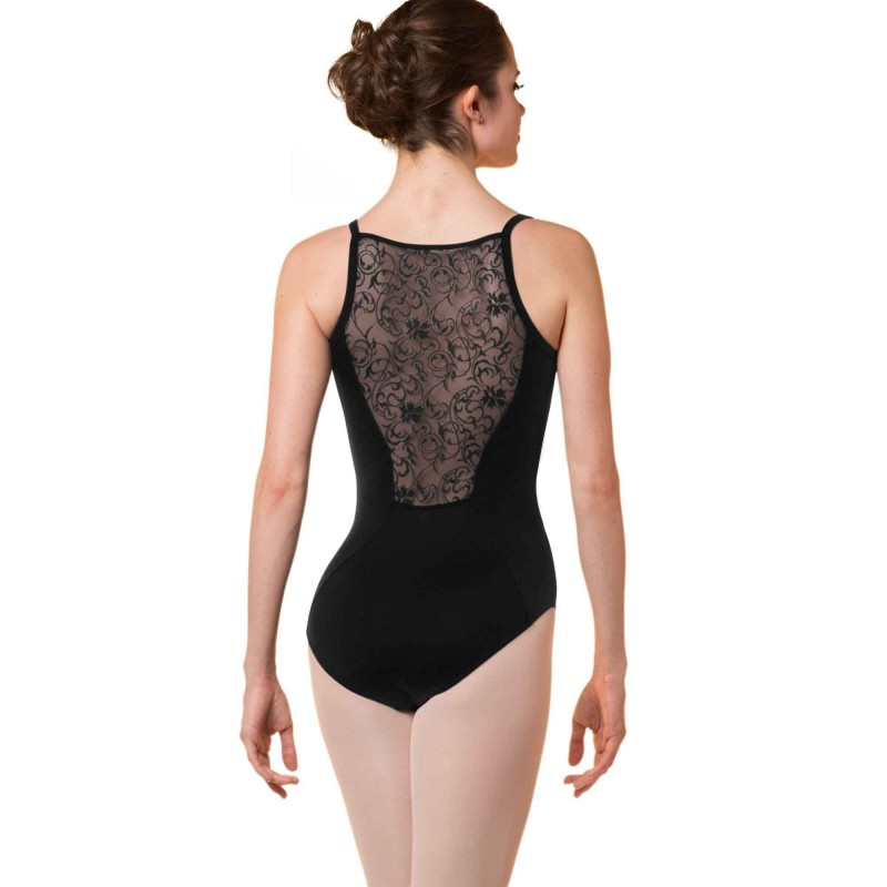 Ballett Trikot mit floralen Mesh-Ornamenten M2164LM Bloch/Mirella