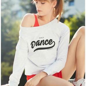 Tanz Sweatshirt mit Aufschrift Temps Danse