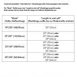 Langer Tanz Chiffon Rock RAD Grad 6-8 LB/SKIRT Freed