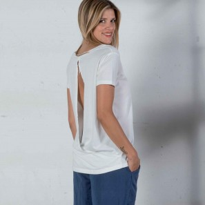 T-Shirt mit Cut-Out am Rücken DZ2A156 Dimensione Danza