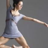 Ballett Body Kurzarm mit Glanzstreifen Einsätzen DA1902MP Grishko