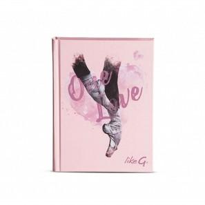 School Diary Rosa mit Spitzenschuh Motiv LG-DS18 LikeG.