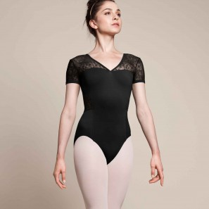 Ballett Tanz Body mit V-Ausschnitt M5073LM