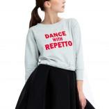 Sweatshirt mit Aufschrift S0457 Repetto