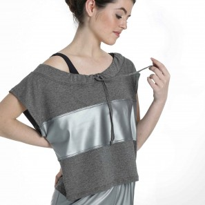 Crop Top mit Metallic-Einsatz 6515 Intermezzo