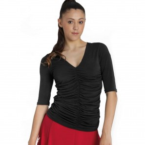 Latin Tanz Top gerafft 6527 Intermezzo