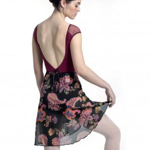 Ballett Tanz Midi-Rock mit Floralprint 7979 Intermezzo