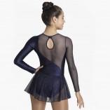Tanz- Gymnastik Anzug mit Mesh Röckchen 31527 Intermezzo