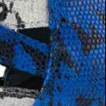 Blau / Weiß Snake-Print